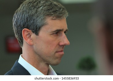 Sioux City, Iowa - July 19, 2019:  Beto O'Rourke makes an appearance at a rally for presidential candidates.