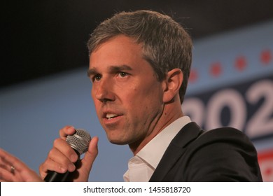 Sioux City, Iowa - July 19,2019:  Beto O'Rourke speaks to the crowd at a forum for presidential candidates