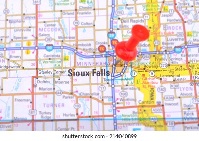 Sioux Falls and Map
