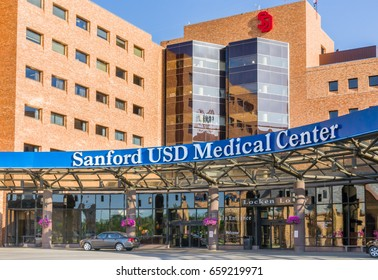 SIOUX FALLS, SD/USA JUNE 3, 2017: Sanford US Medical Center. Sanford USD Medical Center is a hospital operated by Sanford Health system.
