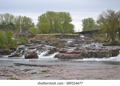 Sioux falls, South Dakota on a rainy spring evening