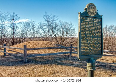 Sioux Falls, South Dakota, USA 11-5-18 Sherman Park is a Historical Site with Multiple Native American Burial Mounds in an Urban Setting