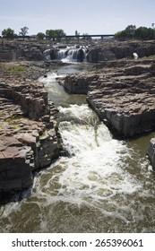 Sioux Falls Waterfall on the Big Sioux River, Sioux Falls, South Dakota