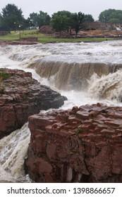 Sioux Falls Waterfalls in South Dakota