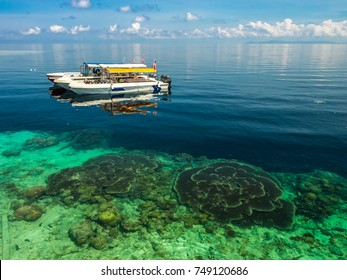 Sipadan Island is the best for diving.Nice beach and coral are beautiful. This place have clear sky water boat and port