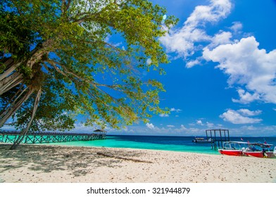 Sipadan island (Sabah, Malaysia) in a sunny day. The island is said to be one of the best dive spots in the world.