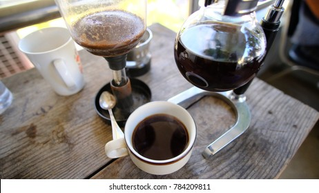 Siphon coffee brewer.