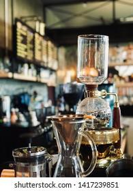 Siphon Coffee Maker in Coffee Shop