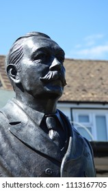 Sir Arthur Conan Doyle stature  Crowborough, England, June the 11th 2018