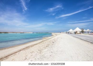 Sir Bani Yas island sea beach in Abu Dhabi, UAE