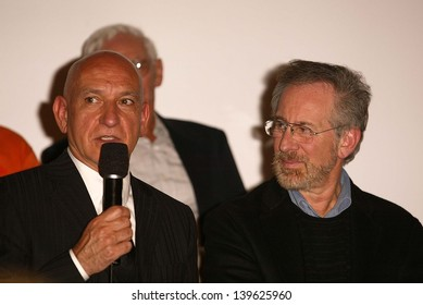 """Sir Ben Kingsley and Steven Spielberg at the Legacy of """"Schindler's List"""" and DVD release at Universal Studios, Universal City, CA 03-03-04"""