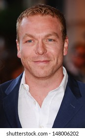 """Sir Chris Hoy arriving for the """"Alan Partridge: Alpha Papa"""" premiere at the Vue Leicester Square, London. 24/07/2013"""