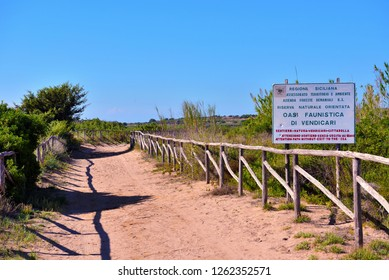 SIRACUSA ITALY, SEPTEMBER 24 Vendicari Nature Reserve is particularly important for the presence of marshes that act as a resting place for bird migration September 24 2018 Siracusa Italy