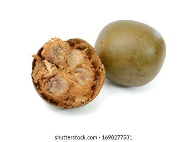 Siraitia grosvenorii fruits on white background