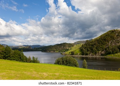 Sirdal region around the many beautiful mountains, Norway.