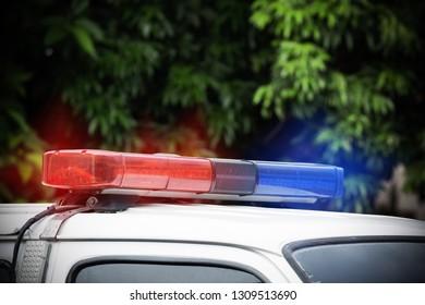 siren light on emergency car