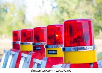 Siren light,Siren light and blurred background,The police stop light