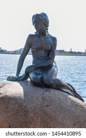The Sirenetta statue at Copenhagen on Denmark