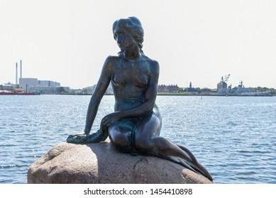 Die Sirenetta-Statue in Kopenhagen auf Dänemark