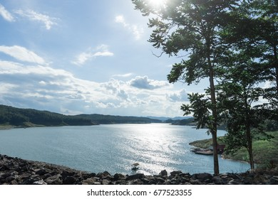 Sirikit Dam, the biggest earth dam in Thailand, located in the north of Thailand.
