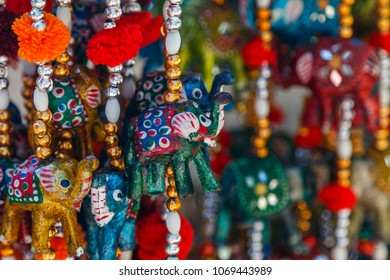 SIRINCE / TURKEY - MAY 2015: Colourful souvenirs on the streets of Sirince traditional village, Turkey