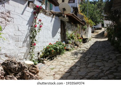 Sirince (şirince) village in İzmir Province, touristic town, Turkey