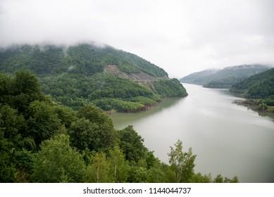 Siriu Lake. View of Accumulation lake Siriu - Buzau County, Romania. Travel destination