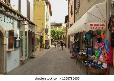SIRMIONE, ITALY 2014; A street in Sirmione, Italy