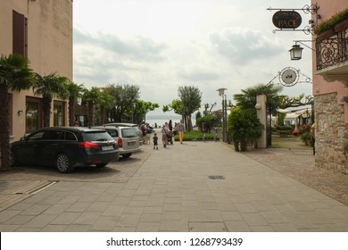 SIRMIONE, ITALY 2018; A street in Sirmione city, Italy