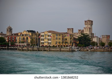 Sirmione, Italy-September 22, 2018: View of Sirmione, Lake Garda, Italy.