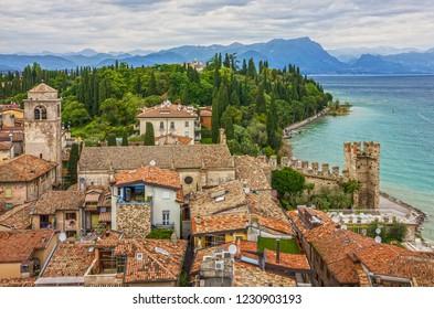 Sirmione, Lombardy, Italy. Garda lake view