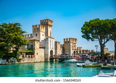 Sirmione town in north part of Italy