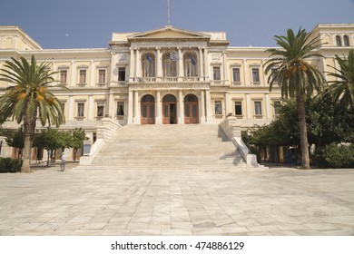 Siros island  town hall, Greece - work of Ernst Ziller famous German architect