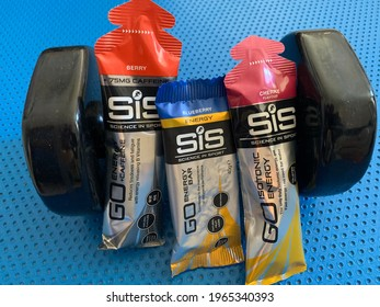 SIS products - fitness gels and energy bar. Commercial editorial