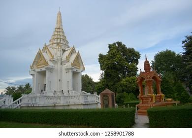 SISAKET THAILAND-November 20 : Phusing City Pillar Shrine on November 20, 2018 Thailand police station public of Sisaket Thailand .