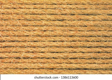 Sisal background - natural thick ropes lie nearby, their structure is visible