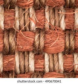 Sisal carpet woven pattern, detailed macro shot