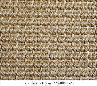 Sisal closeup of weaving the leaves of the agave flooring