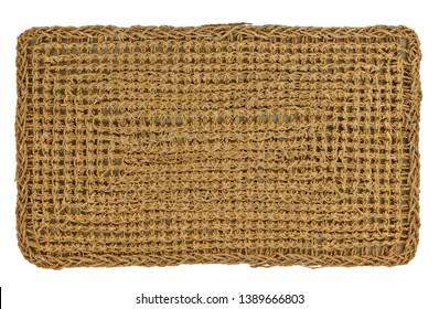 sisal Mat on white background