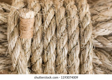 Sisal rope background, natural fibre twist rope, biodegradable bound layout, landscape orientation.