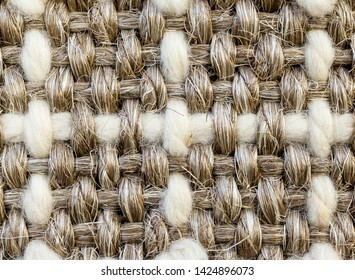 Sisal and wool weaving from the leaves of the agave flooring