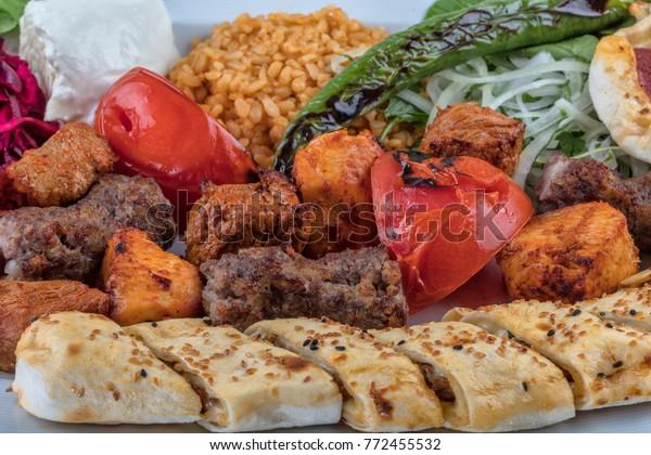 Sish Kebab Turkish Kebab On Plate Stock Photo Edit Now 772455532
