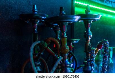 sishas in nigth club party smokers