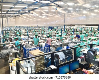 Sisopon,Cambodia-Sep 12,2017:Khmer labor working in garment factory.