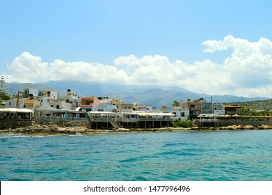 Sissi Crete, Greece - June 11, 2019 : Sissi coastal town in Crete the largest and most populated of the Greek islands