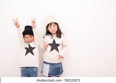 Sister of matching clothes