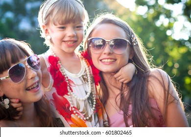 Sisters' Friendship. One of the most valuable feeling - harmonious relationships between sisters, a perfect example of female friendship. A perfect world of peace, happiness,smile.