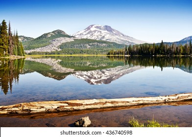 Sisters Reflection Sparks Lake