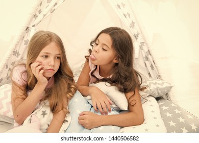 Sisters rivalry concept. Kids lay in tipi house sad faces. Friends have some problems. Steps for dealing with sibling rivalry. There is no harm in bit of healthy sibling rivalry when you are children.