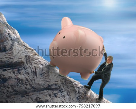 Young Sisyphus Tries To Move World >> Sisyphus Metaphor Man Trying Push Giant Stock Photo Edit Now